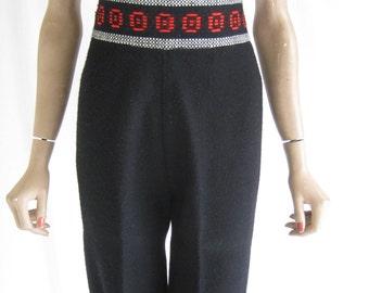 Vintage 60's Folk Gaucho Pants