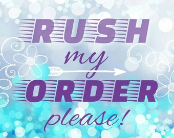 Rush my order please! Fasten shipping for your order. Please read the item detail. Thank you!