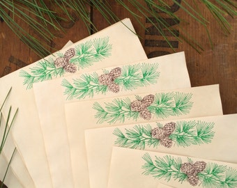 "Christmas Writing Paper ""Western Pines"" 20 Sheets-Stationery Size Paper"