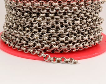 25ft 5.7mm Rolo Chain - Antique Silver - 5.7mm Links - CH81