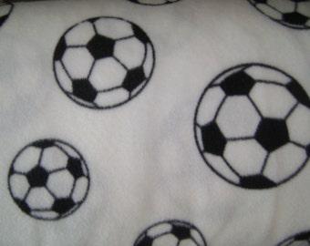 Soccer Ball Fleece Fabric (32 inches)