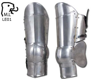 New Legs greave Medieval Warrior stainless steel Armor Larp Ren Faire LE01