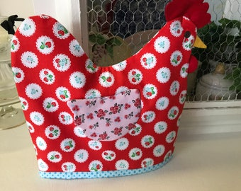 Rose Red Hen tea/muffin cozy