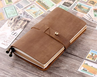 Leather Journal Notebooks - Refillable Journal Sketchbook- Vintage Distressed Leather Travellers Notebooks - Writing Diary Cover