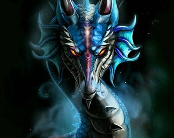 Smoking Dragon Cross Stitch Pattern