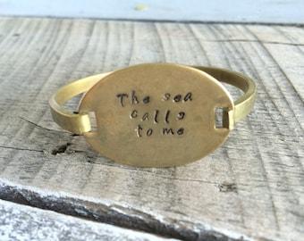 Brass Hand Stamped Bracelet