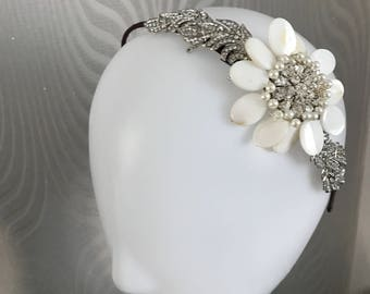 Bridal headband  - bridal tiara , Vintage headpiece , bridal headpiece , bridal headpiece - Hair accessory - Wedding headdress