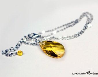 Marvel Avengers Infinity Stone - Mind inspired Swarovski Crystal Necklace