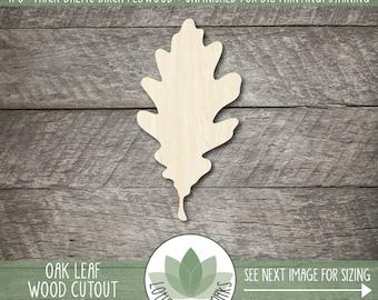 Wood Oak Leaf Shape, Oak Leaf Wooden Cutout, Blank Wood Shapes, Unfinished Wood Shapes For DIY Projects, Fall Wedding Leaf Favors, Autumn