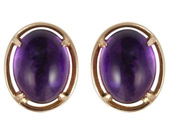Victorian Violet Amethyst Earrings