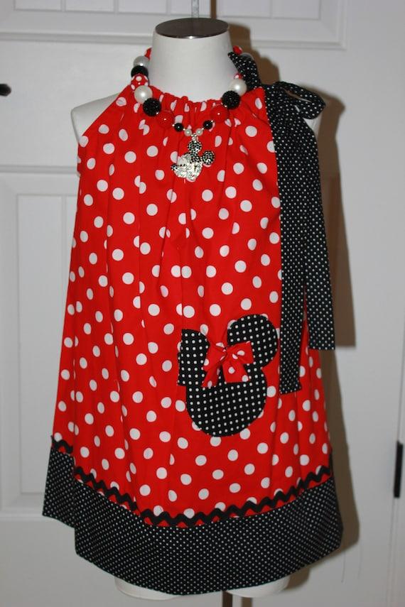 Disney Minnie Mouse Dress,Minnie Birthday Dress, Disney Vacation,Disney World, Toddler Minnie  Dress, Red Minnie Dress, FREE SHIPPING