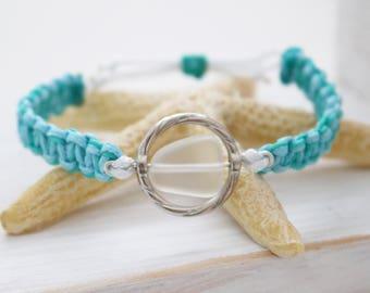 Waterproof Bracelet // Charity Bracelet // Beach Glass Bracelet // Recycled Bracelet // Adjustable Bracelet // Surf Bracelet // Beach Wear