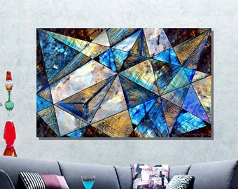 "Acrylic Print -""Triangles 03"" -Contemporary Abstract Photography, Nature inspired Abstract, Geometric Abstract, Modern Art"
