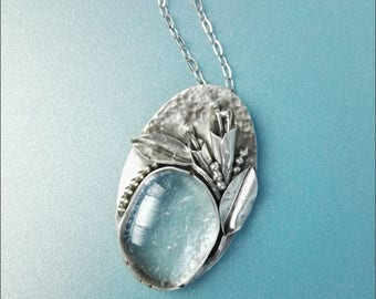 silversmith floral pendant necklace for women