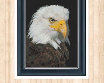 Edmund the Eagle Counted Cross Stitch Chart