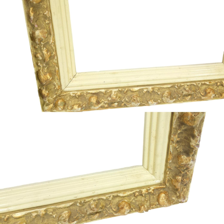 Yeso marco tiene 9 x 7 foto Vintage adornado antiguo oro crema ...
