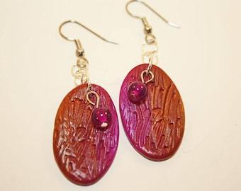 Polymer Jewel-toned Earrings