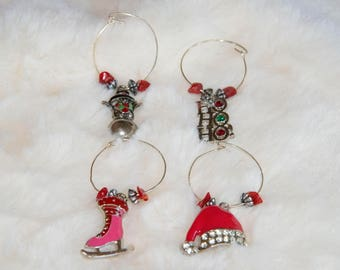 Winter Wonderland Holiday Wine Charms