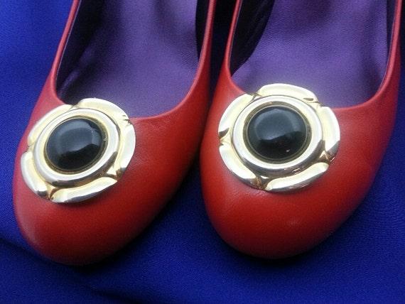 Vintage Shoe Clips Plain Jane