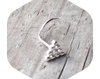 Large Silver Triangle Nose Screw