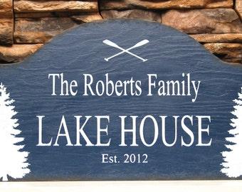 LAKE House or cabin retreat, rustic sign, custom cabin sign, custom sign, rustic wood sign, realtor housewarming gift, custom Christmas