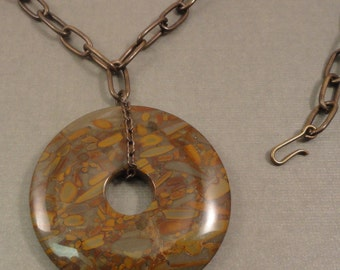 Golden Horse Jasper Necklace