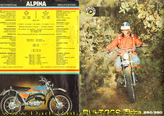 1975 Bultaco Alpina 250/350 4-Page Brochure #mb667