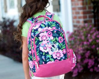 Posie Girls Monogrammed Backpack, Monogram Book Bag, Girls Book Bag, Monogram Backpack, Personalized Girls Backpack, Back to School