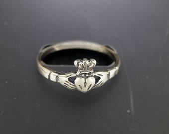 Small Claddagh Ring in Stainless Steel