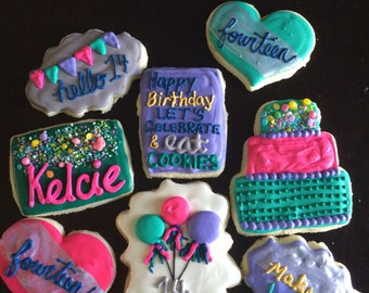 Glamour Birthday Cookies