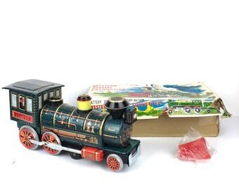 Vintage Toy Train 1960s Metal Tin Toy Train Modern Toys Japan Tin Battery Operated Toy Train Japan Old Train Toy Modern Toys Japan Train Toy