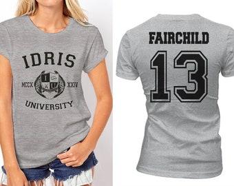 Fairchild 13 Idris University Women tee T-shirt Sport Grey