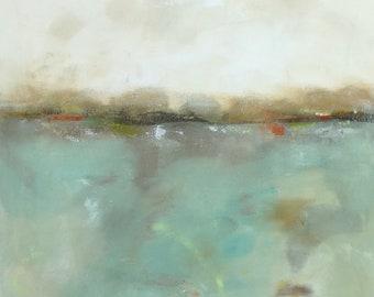 Original abstract seascape painting -Coastal Charm 22 x 28