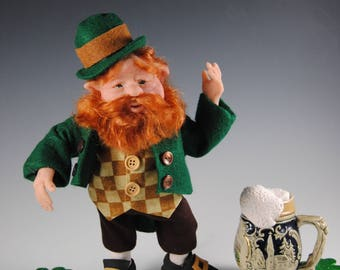 "Leprechaun Doll/OOAK Leprechaun/""Murphy"""
