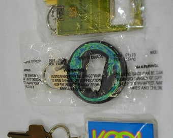 Vintage Lot of 3 Cigarette Key Chains - Kool, Marlboro Menthol Lizard and Benson & Hedges - 2 New in the Original Packages