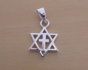 David cross etsy 925 sterling silver solid star of david cross pendant aloadofball Gallery