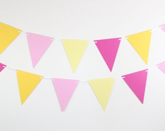 Pink Lemonade Birthday Decorations- birthday party decor, party banner SET OF 2