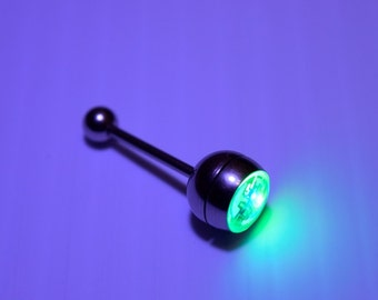 LED Light up Tongue Piercing - Glow Rave Tongue Ring (Multicolor)