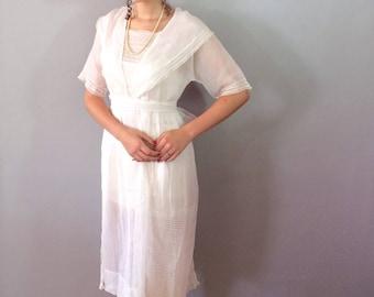 Aunt Cora's 1910 White Tea Dress