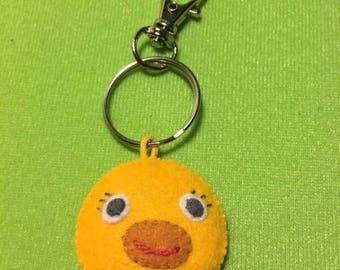 Felt Baby Chick Face/Backpack Clip/Easter Basket Gift