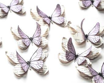 Papillons lilas, décoration pastel chambre, mariage vintage, décoration bohème chic, decoration table mariage, decoration bapteme fille