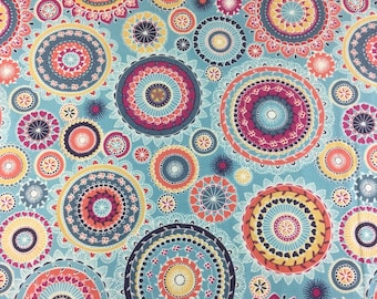 Makower Radiance Lace cotton craft fabric by the fat quarter