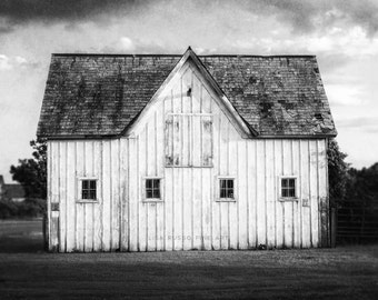 Greyscale Rustic Barn Large Print Or Canvas