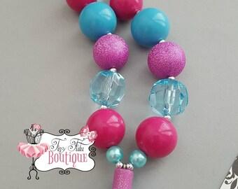 SHOPKINS POLLY POLISH Chunky Necklace- Chunky bubblegum necklace, Girls chunky necklace, Gumball necklace