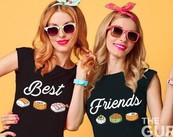 Best friends shirts besties shirt bff shirts best friends matching shirts sister shirts twin shirts burger fries shirts gift for best friend