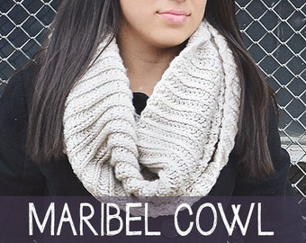 Pattern: Maribel Ribbed Cowl Crochet Pattern PDF (Cowl Crochet Pattern by Little Monkeys Crochet) Cowl Crochet Pattern Easy Cowl