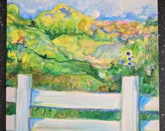 A place called Charm watercolor painting by VictoriaCableArt original