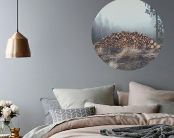 Vinyl removable wall decal - Winter woodland