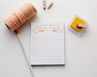 Wedding Checklist Note Pads