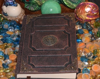 Pirate Skull Black Pearl Tome Book Grimoire Sketchbook Journal Cosplay Larp Jack Sparrow